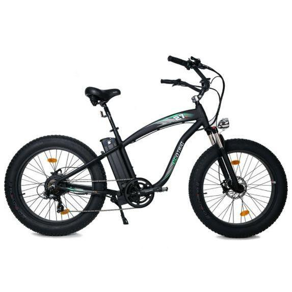 Ecotric Hammer 48V 1000W Electric Fat Tire Cruiser Bike (black)