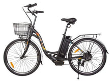 Load image into Gallery viewer, Ecotric Peacedove 36V 350W Step-Through Electric City Bike (black)