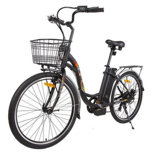 Ecotric Peacedove Step-Through Electric City Bike (black)