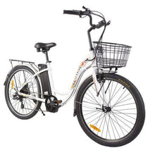 Load image into Gallery viewer, Ecotric Peacedove 36V 350W Step-Through Electric City Bike (white)