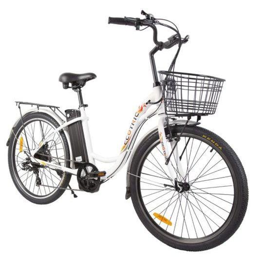 Ecotric Peacedove 36V 350W Step-Through Electric City Bike (white)
