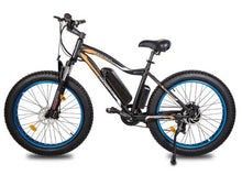 Load image into Gallery viewer, Ecotric Rocket 36V 500W Beach and Snow Fat Tire Electric Bike (blue)