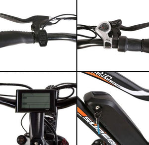 Ecotric Rocket handlebar, battery, throttle and shifter