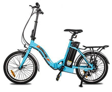 Load image into Gallery viewer, Ecotric Starfish Step-thru Folding Electric Bike (blue)