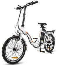 Load image into Gallery viewer, Ecotric Starfish 36V 350W Step-thru Folding Electric Bike (white)