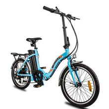 Load image into Gallery viewer, Ecotric Starfish 36V 350W Step-thru Folding Electric Bike (blue)