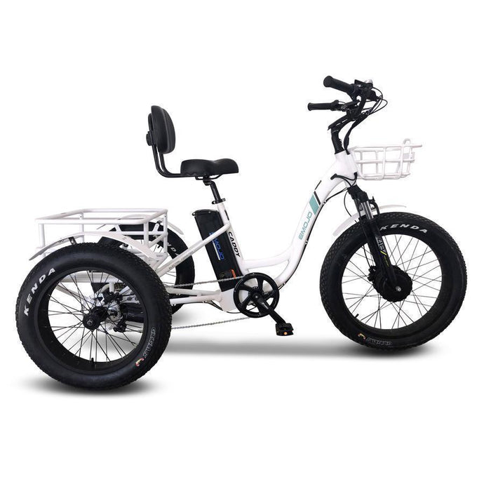 Emojo Caddy Pro 3-Wheel Electric Cargo Trike (white)