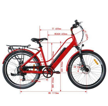 Load image into Gallery viewer, Eunorau E-Torque Step-Thru Electric Bike dimensions