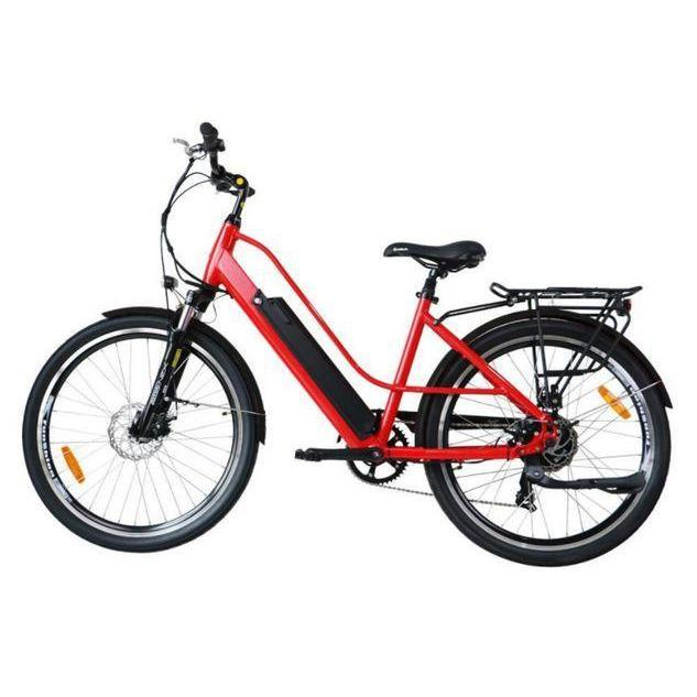 Eunorau E-Torque 36V 350W Step-Thru Electric Bike (red)