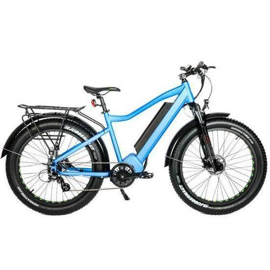 Eunorau Fat-HD 1000w Mid-Drive Fat Tire Electric Mountain Bike (blue)