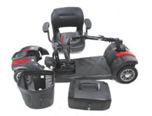Load image into Gallery viewer, Dissassembled EV Rider MiniRider Lite WT-T4DKC Mobility Scooter (red)