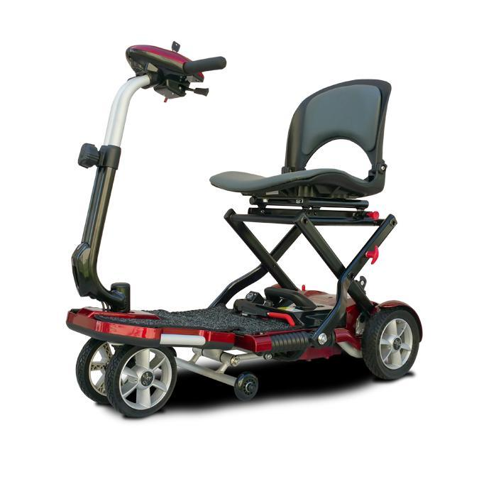 EV Rider S19+ Transport Plus Folding Mobility Scooter (red)