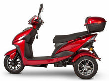 Load image into Gallery viewer, side view of EWheels EW-10 Sport 3-Wheel Scooter (red)
