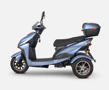 Load image into Gallery viewer, side view of EWheels EW-10 Sport 3-Wheel Scooter (blue)