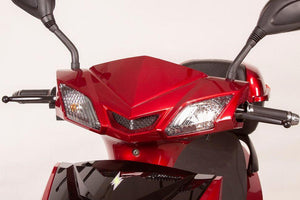 headlights of EW-10 Sport 3-Wheel Scooter