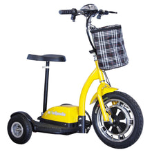 Load image into Gallery viewer, EWheels EW-18 Stand-N-Ride Three Wheel Folding Electric Scooter (yellow)