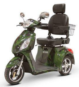 EWheels EW-36 Three Wheel Electric Mobility Scooter (green camo)
