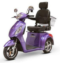 Load image into Gallery viewer, EWheels EW-36 Three Wheel Electric Mobility Scooter (purple)
