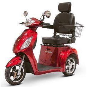 EWheels EW-36 Three Wheel Electric Mobility Scooter (red)