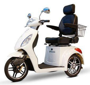 EW-36 Three Wheel Electric Mobility Scooter (white)