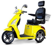 Load image into Gallery viewer, EWheels EW-36 Three Wheel Electric Mobility Scooter (yellow)