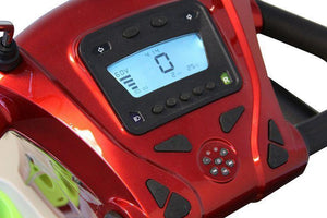 digital dashboard of EWheels EW-52 Four Wheel Designer Electric Mobility Scooter