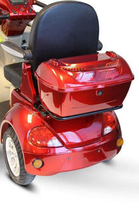 rear storage box of  of EWheels EW-52 Four Wheel Designer Electric Mobility Scooter