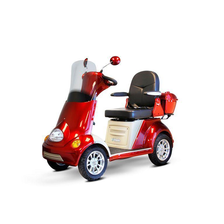 EWheels EW-52 Four Wheel Designer Electric Mobility Scooter (red)