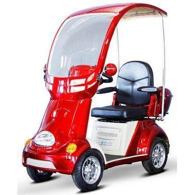 EWheels EW-54 4-Wheel Buggie Electric Mobility Scooter (red)