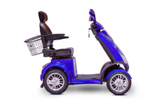 Load image into Gallery viewer, side view of EWheels EW-72 4 Wheel Electric Mobility Scooter (blue)