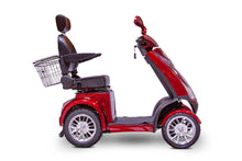 Load image into Gallery viewer, side view of EWheels EW-72 4 Wheel Electric Mobility Scooter (red)