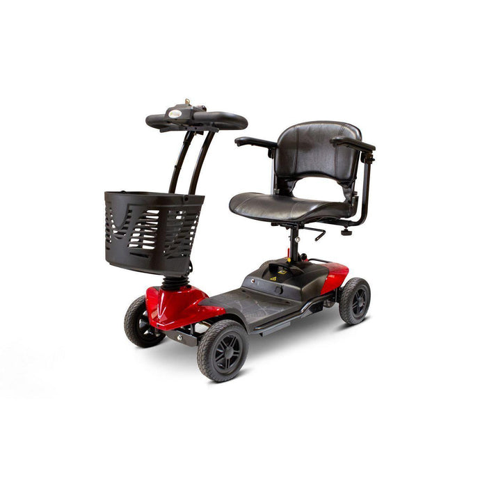 E-Wheels EW-M35 Four Wheel Portable Electric Mobility Scooter with Basket-Red-EW-M35 R-Ride and Go Electrics