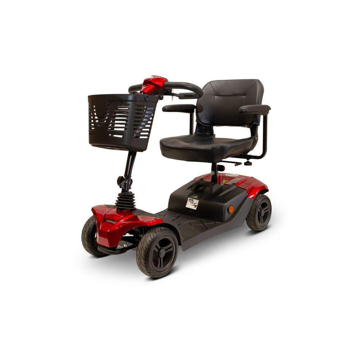 E-Wheels EW-M41 Four Wheel Folding Electric Mobility Scooter-Red-EW-M41 R-Ride and Go Electrics