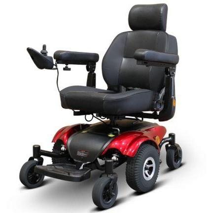 EWheels EW-M48 Travel Mobility Power Wheelchair (red)