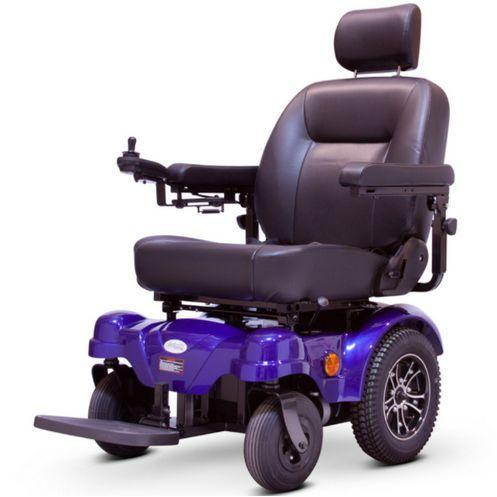 EWheels EW-M51 Heavy Duty Power Wheelchair (blue)
