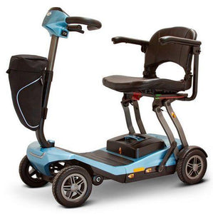 E-Wheels EW-REMO Auto-Flex Folding Travel Four Wheel Electric Scooter-Blue-EW-REMO B-Ride and Go Electrics
