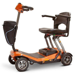E-Wheels EW-REMO Auto-Flex Folding Travel Four Wheel Electric Scooter-Orange-EW-REMO O-Ride and Go Electrics