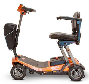 E-Wheels EW-REMO Auto-Flex Folding Travel Four Wheel Electric Scooter--Ride and Go Electrics
