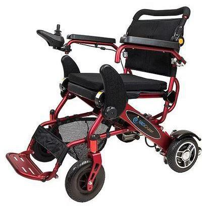 Geo Cruiser DX Lightweight Foldable Power Wheelchair red