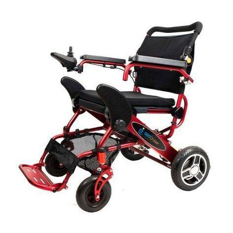 Geo Cruiser Elite EX Lightweight Foldable Power Wheelchair (red)