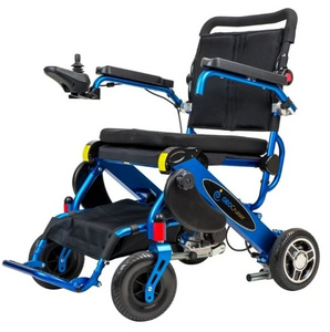 Geo Cruiser LX Lightweight Foldable Power Wheelchair-Blue-Ride and Go Electrics
