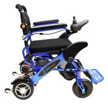 Load image into Gallery viewer, Geo Cruiser LX Lightweight Foldable Power Wheelchair (blue)