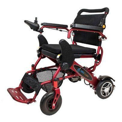 Geo Cruiser LX Lightweight Foldable Power Wheelchair (red)