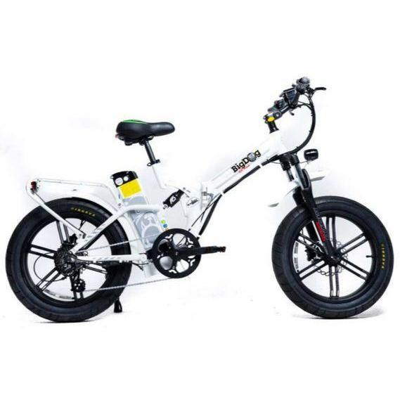 GreenBike Electric Motion Big Dog Off Road Fat Tire Electric Bike (white)