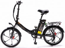 Load image into Gallery viewer, 2021 City Premium Folding Electric Bike (black)