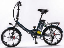 Load image into Gallery viewer, GreenBike Electric Motion 2021 City Premium Folding Electric Bike (dark blue)