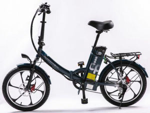 GreenBike Electric Motion 2021 City Premium Folding Electric Bike (dark blue)