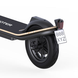 rear brake and light of Megawheels S11X Electric Scooter