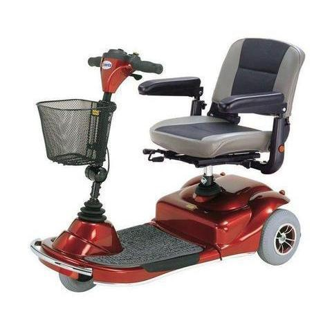 Merits Pioneer 1 S235 Portable 3-Wheel Mobility Scooter (red)