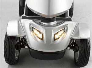 Merits Silverado 4-Wheel Full Suspension Electric Scooter S941A headlights